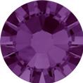 Hotfix steentje in de kleur amethyst. Een violette paarse gloed