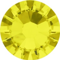 Hotfix steentje in Citrine kleur. Een citroengele zomerse kleur.