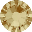 Hotfix steentje in kleur Light Colorado Topaz. Geel- bruinkleurig