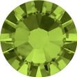 Hotfix steentje in de kleur Olivine. Olijfgroene tint