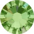 Hotfix steentje in Peridot AB. Limoenachtige groene kleur met extra glans
