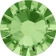 Hotfix steentje in Peridot kleur. Limoenachtige groene kleur