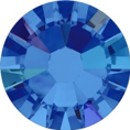 Hotfix steentje in Sapphire AB kleur. Saffier blauw met extra glans