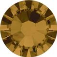 Hotfix steentje in Topaz kleur. Middentint bruin paarsig