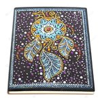 Diamond Painting Notitieboekje- Blauw met gele Dromenvanger