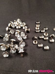 Studs met Strass Crystal 9 mm