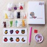 Diamond Painting Stickers - Set mini Fruit - 8 stuks