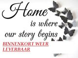 Diamond Painting pakket - Home is where our story begins 60x45 cm (full)_