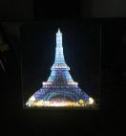 Diamond Painting met LED-verlichting - Verlichte Eiffeltoren bij nacht 30x40 cm (full)_