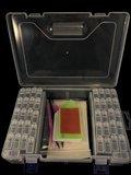 Diamond Painting opbergdoos / sorteerkoffertje met 42 fliptop doosjes plus benodigdheden_