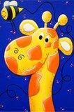 Diamond Painting op schildersezeltje - Grappige Giraffe 10x15 cm (Partial)