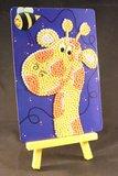 Diamond Painting op schildersezeltje - Grappige Giraffe 10x15 cm (Partial)_