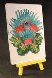 Diamond Painting op schildersezeltje - 2 Flamingo's 10x15 cm (Partial)_