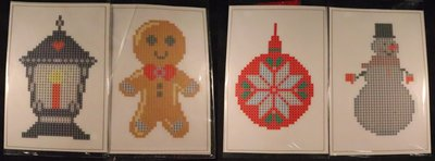 Diamond Painting Stickers - Set Grote Kerstfiguurtjes (o.a. lantaarn) - 4 stuks