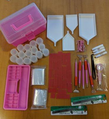Rose Diamond Painting startersbakje met allerlei accessoires