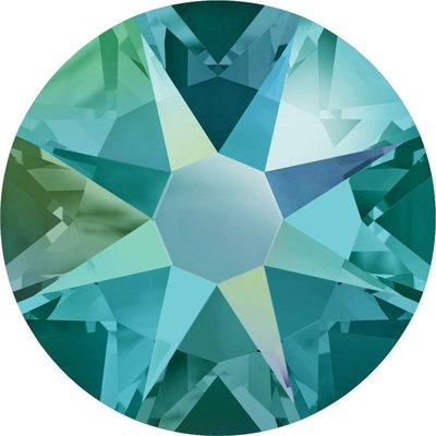 Swarovski non-hotfix steentjes kleur Blue Zircon Shimmer (229SHIM) SS16