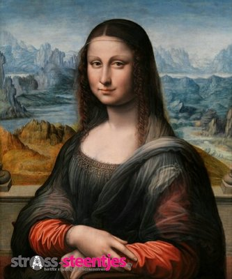 Diamond Painting pakket - Mona Lisa 50X60 cm (full)