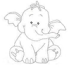 Hotfix Patroon - Zittend olifantje