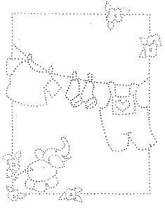 Hotfix Patroon - Waslijn geboortekaartje