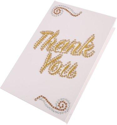 Diamond Painting ansichtkaart - Thank You (Partial met ronde steentjes)
