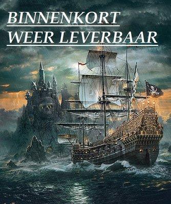 Diamond Painting pakket -  Oud piratenschip op een woeste zee 60x70 cm (full)