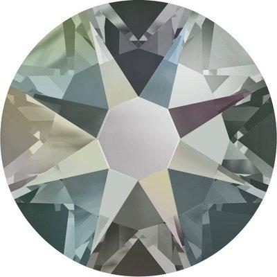 Swarovski non-hotfix steentjes kleur Black Diamond AB (215 AB) SS30