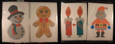 Diamond Painting Stickers - Set Grote Kerstfiguurtjes (o.a. kaarsjes) - 4 stuks