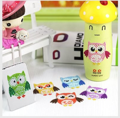 Diamond Painting Stickers - Set kleine Uiltjes- 6 stuks