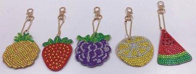 Diamond Painting Sleutelhangers Fruit (Set 5 stuks)