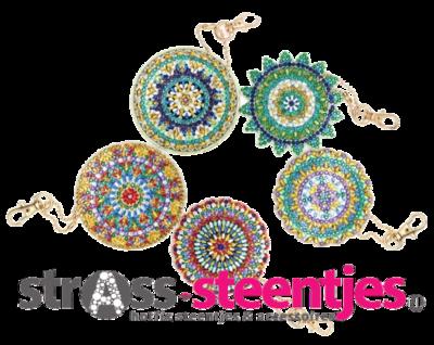 Diamond Painting Sleutelhangers Mandala's (Set 5 stuks)