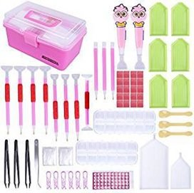 Diamond Painting Toolkit koffer - Roze