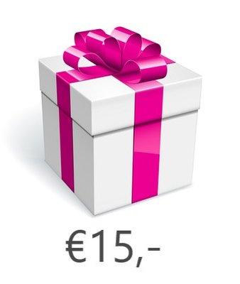Strass-steentjes Cadeaubon €15,-