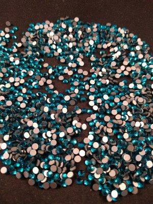 Blue Zircon SS 10 Excellent Austrian kwaliteit non-hotfix plakstenen