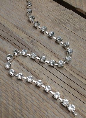 Strassketting 8 mm Crystal - Silver Cup