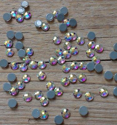 Rondje 6 mm Crystal AB Hotfix Rhinestones Superior kwaliteit