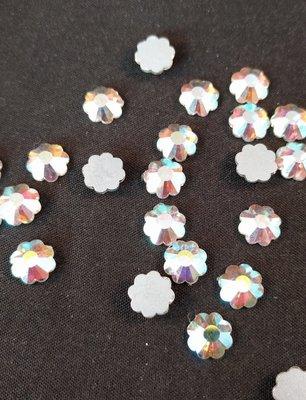 Non Hotfix steentjes Bloem SS 30 Kleur Crystal AB