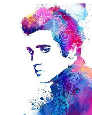 Diamond Painting pakket - Elvis Presley 40x50 cm (full)
