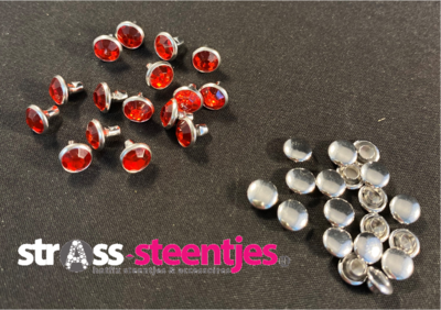 Studs met Strass (Acryl) - Hyacinth 6 mm