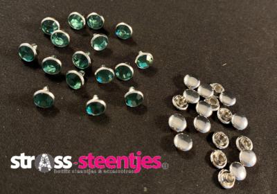 Studs met Strass (Acryl) - Erinite 6 mm
