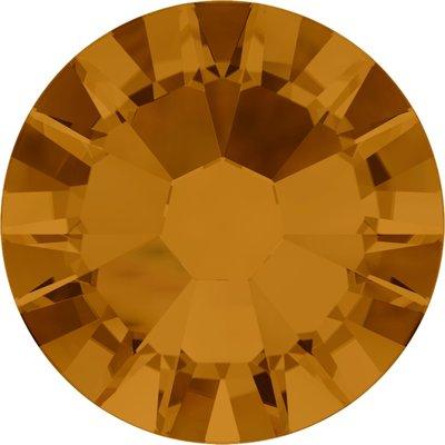 Swarovski hotfix steentjes kleur Crystal Copper (001COP) SS12