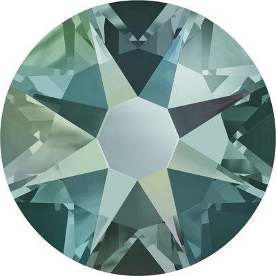Swarovski hotfix steentjes kleur Black Diamond Shimmer (215SHIM) SS16