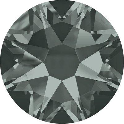 Swarovski hotfix steentjes kleur Black Diamond (215) SS30