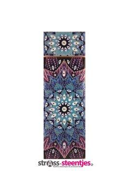 Diamond Painting Pennendoosje - Blauw met Paarse Mandala 7x21 cm