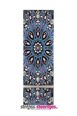 Diamond Painting Pennendoosje - Blauwe Mandala 7x21 cm