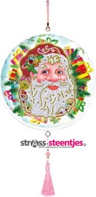 Diamond Painting Wandornament - Kerstman