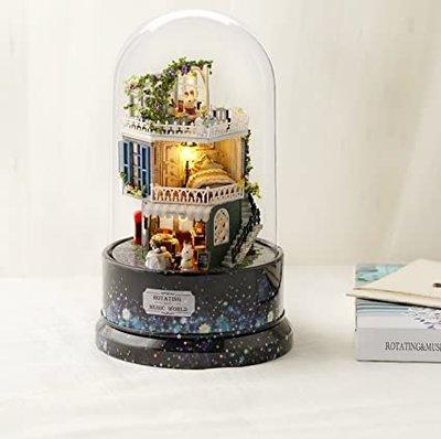 Mini Dollhouse - Draaiende muziekdoos - Look for a Star