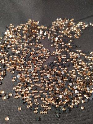 Hotfix steentjes Budget kwaliteit SS 10 Kleur Light Colorado Topaz