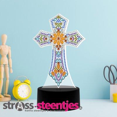 Diamond Painting Religie - Tafellamp met LED