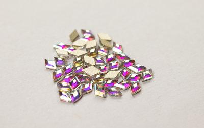 Ruitje 5 mm Crystal AB Non hotfix Rhinestones figuren Superior Glamour kwaliteit