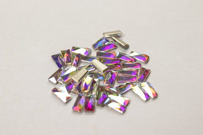 Smalle Trapeze 6 mm Crystal AB Non hotfix Rhinestones figuren Superior Glamour kwaliteit